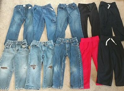 Toddler Boy's Jeans & Long Pants Lot of 10 Size 4T Old Navy, Children's Place