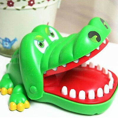 Great For Crocodile Crocilisk Mouth Dentist Bite Finger Game Kids Chlidren Toy