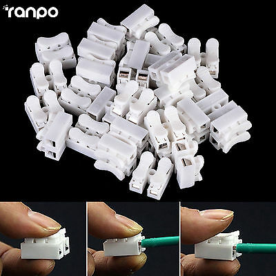 20x CH-2 Spring Wire Connectors Electrical Cable Clamp Terminal Block Connector