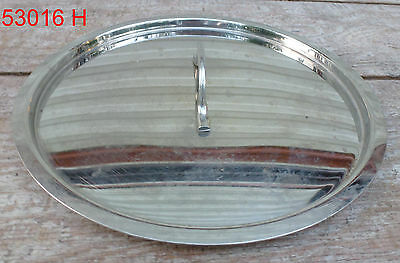 "10-11"" Stainless Steel Pot Cover Lid pan stock soup inset"