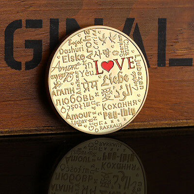 2017 Coin of Niue love Silver Gold Yuanyang love heart-shaped Commemorative Coin