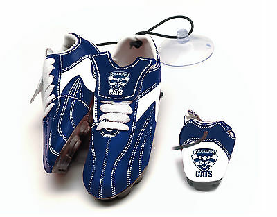Geelong Cats AFL Hanging Suction Boots for Car Windows! Official AFL Gear