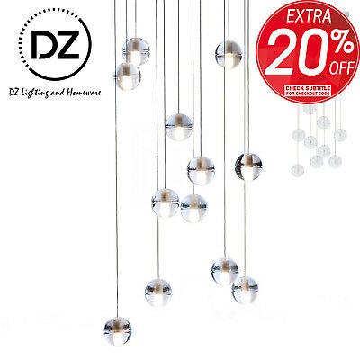 Crystal Glass Ball LED Pendant Lighting Sphere Contemporary Bocci Chandelier
