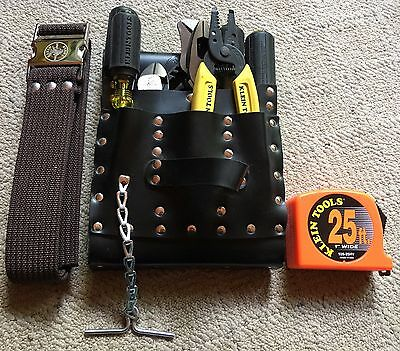 Klein Tools 12 Piece Electrician's Tool Pouch Set W/ Belt No.5300 Made In Usa