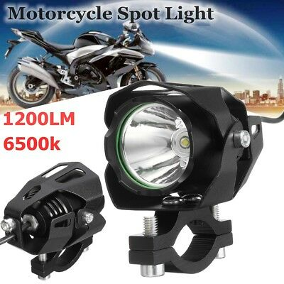 Coppia 30w T6 Led 1200lm Faretti Supplementari Faro Headlight Fog Moto Bike Cafe