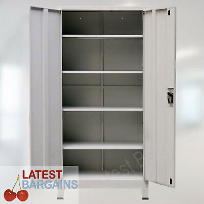 Steel Storage Cabinet Metal Locker Office Garage File Stationery Cupboard NEW