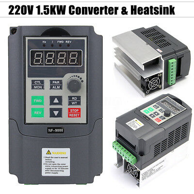 1.5KW Single Phase To 3 Phase 220V Frequency Drive Converter Inverter 2HP VFD