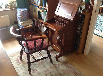 Vintage Captains Writing Desk and chair