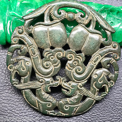 Old Chinese Neolithic xiuyu jade Hand carved Amulet Pendant   0001388