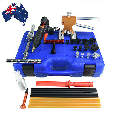 PDR Dent Puller Lifter Blue Box Tools Paintless Car Dent Hail Removal Repair Kit