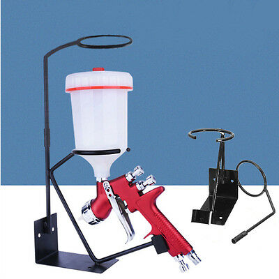 Gravity Feed Paint Spray Stand Sprayer Bench With Strainer Holder Wall Mounted