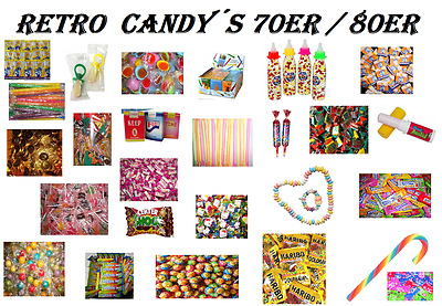 ♥♥ Retro Box ♥♥ Süßwaren aus der Kindheits ♥♥  70er / 80er Motto Party ♥♥