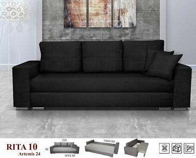 NEW Victorio / Victoria Sofa Bed 3 Seater with Storage Double Many Colors Fabric
