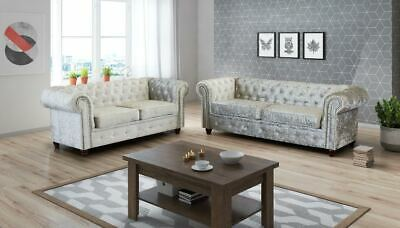 ROMA INFINITY Velvet FABRIC SUITE SOFAS LARGE BRAND NEW 3 2 SEATER COUCH