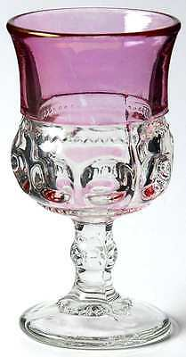 Tiffin Franciscan KING'S CROWN CRANBERRY FLASHED Wine Glass 9933261