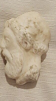 roman solid marble head of a male  god 1st-2nd century