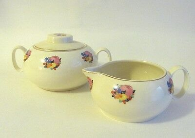 Lovely Cavitt Shaw W.S. George Cream & Sugar Set- Country Gentleman