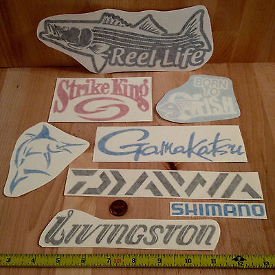 8 Fishing decals vinyl sticker