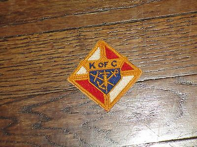 knights of colombus patch, 1960's, new old stock, set of 2