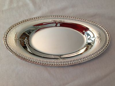 Oneida Community Fantasy 13125  Silverplate Oval Serving Plate /tray