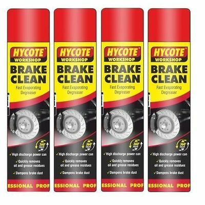 4 x Hycote Brake Part Cleaner Spray Can Aerosol High Quality Leaves Clean 600ml