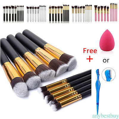 10x Pro Makeup Brushes Set Foundation Powder Eyeshadow Eyeliner Lip Tool LT22
