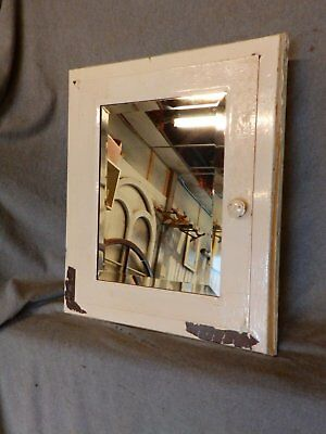 Vintage Industrial Metal Recessed Mount Medicine Cabinet Beveled Mirror 211-17P