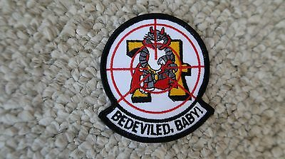 """Bedeviled Baby 74Th Navy F-14 Patch 2 7/8""""x3 1/8"""" Military"""