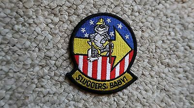 """Sluggers Baby Vf-103 Navy F-14 Patch 2 7/8""""x3 1/8"""" Military"""