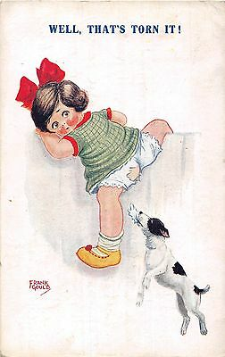 POSTCARD  CHILDREN   Well  that's  torn  it               Frank  Gould