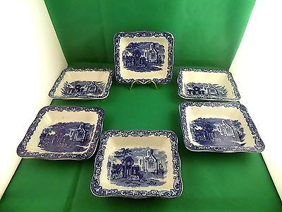 George Jones & Sons Abbey  Large Shredded Wheat Dishes x 6