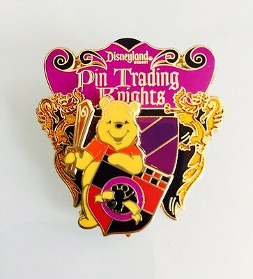 Disney DLR Disneyland Pin Trading Night Knights Shield Winnie the Pooh Pin 72391
