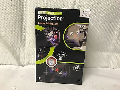 Gemmy Red White Blue Stars Whirl A Motion Led Light Show Projection Up To 15 Ft