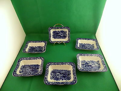 George Jones & Sons Abbey  Small Shredded Wheat Dishes x 6