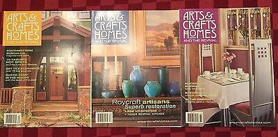 Arts & Crafts Homes and The Revival Magazine Lot of 3 From 2008