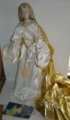 """FRANKLIN MINT Porcelain Doll QUEEN GALADRIEL Lord Of the Rings 23"""""""