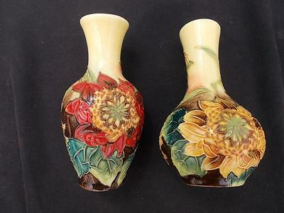 2 Old Tupton Ware Vases Tubelined Decoration, Both In Lovely Condition