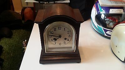 Antique bracket clock late 19th century victorian