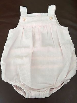 Baby Girl's JANIE & JACK Light Pink Bubble One-Piece - Size 6-12 Months