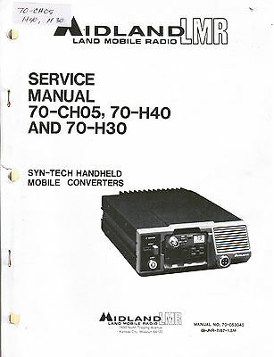 MIDLAND Manual 70-CH05 70-H40 70-H30 Syn-Tech Handheld Mobile Converters
