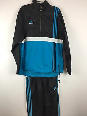 VTG Adidas Track Suit Full Men's Sz L Colorblock Windbreaker Style