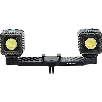 Lume Cube Dual External Bluetooth Dimmable LED Video Light Kit for GoPro (Gray)