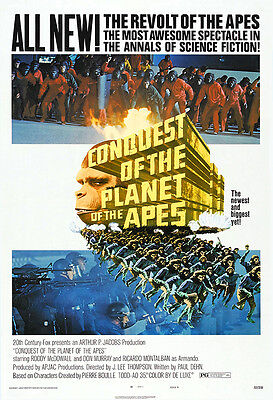 Conquest Of The Planet Of The Apes Movie Poster Print - 1972 - Sci-Fi - 1 Sheet