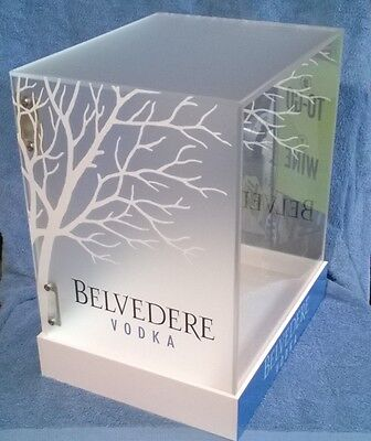 Belvedere Vodka Countertop Locking Display Case -New! Great for ManCave!