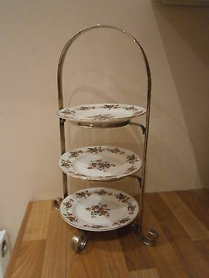Vintage 1930's art deco silver plated cake stand