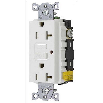 Hubbell Wiring Systems GFCI Commercial LED 20A 125V White (GF20WLA)