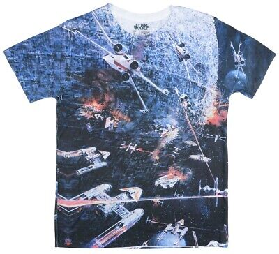 Star Wars Death Star Space Battle Double Sided Sublimation Adult T-Shirt