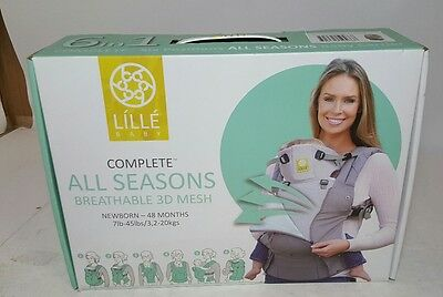 Lillebaby Complete All Seasons 6 in 1 360 Ergonomic Baby Carrier Stone FREE SHIP