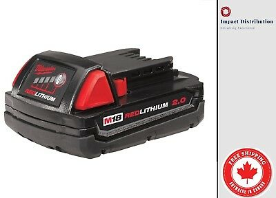 New Milwaukee M18™ REDLITHIUM™ 2.0 Compact Battery Pack (48-11-1820)