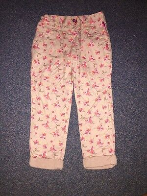 Ted Baker Girls Floral Chino Trousers Age 2-3